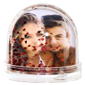 Sněžící koule Amore Red s Vaší fotografií