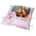 Růžový FotoPolštář s králíkem s Vaší fotografií
