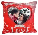 Zamilovaný polštář s vlastní fotkou - červený