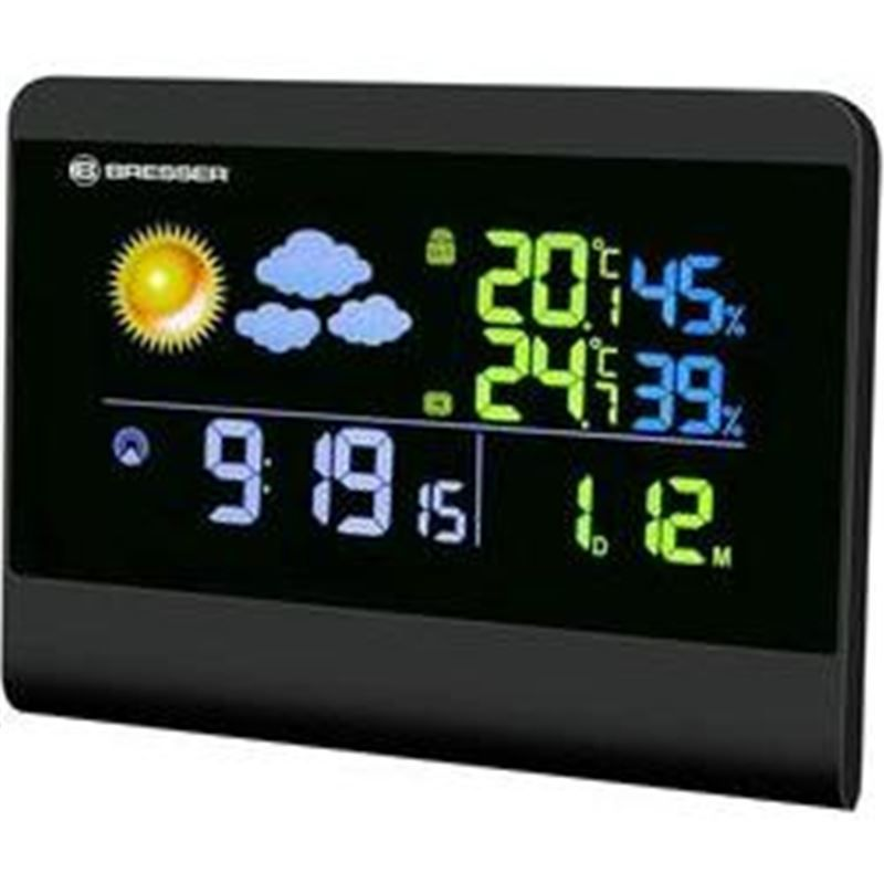 Bresser TemeoTrend Colour RC Weather Station, blac