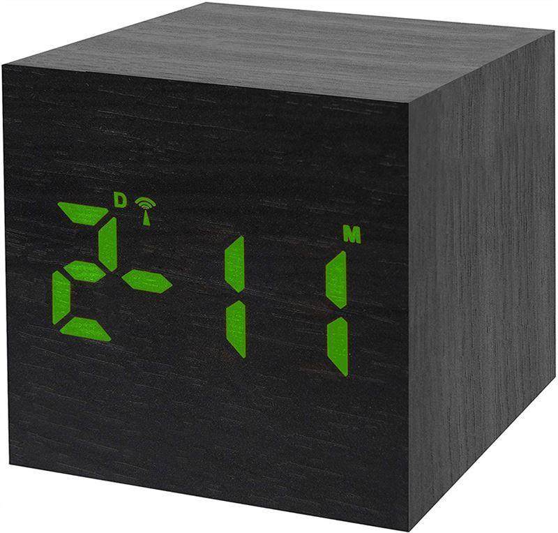 Bresser MyTime WAC Tabletop Alarm Clock,black
