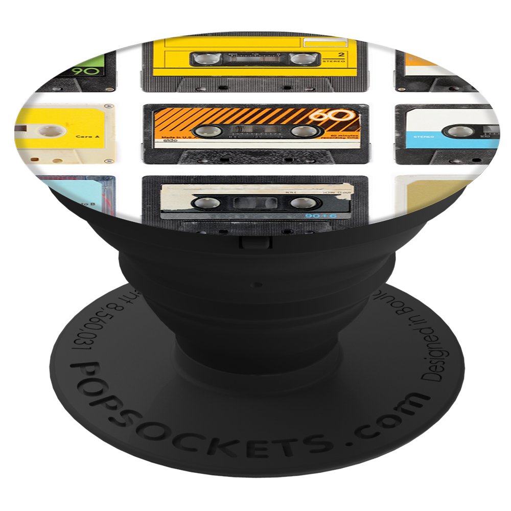 PopSockets Original PopGrip, Tapes on Tapes, retro magnetofonové pásky